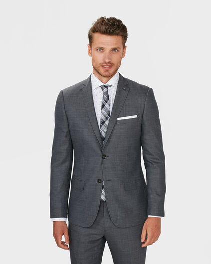HERREN-ULTRA-SLIM-FIT-BLAZER BOSTON Dunkelgrau
