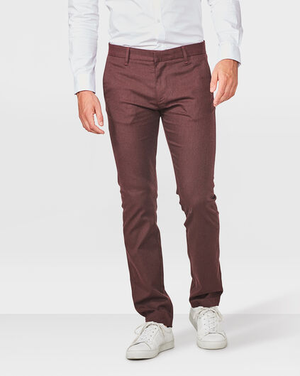 HEREN SLIM FIT MELANGE CHINO Weinrot
