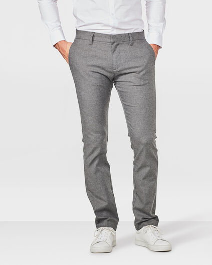 HEREN SLIM FIT MELANGE CHINO Hellgrau meliert