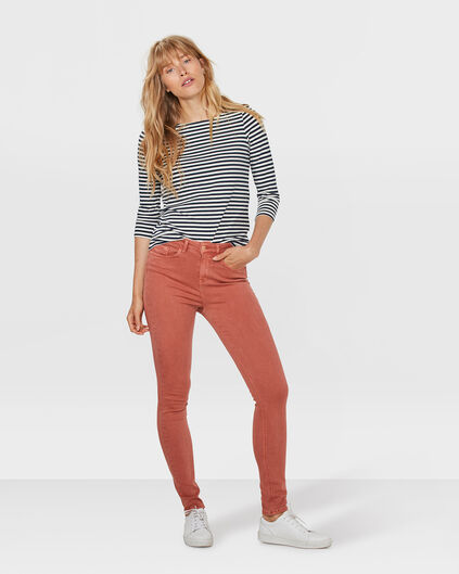 DAMEN-SKINNY-JEANS MIT HOHER TAILLE Rosa