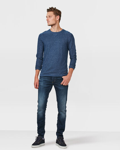HERREN-SKINNY-TAPERED-JOG-DENIM Dunkelblau