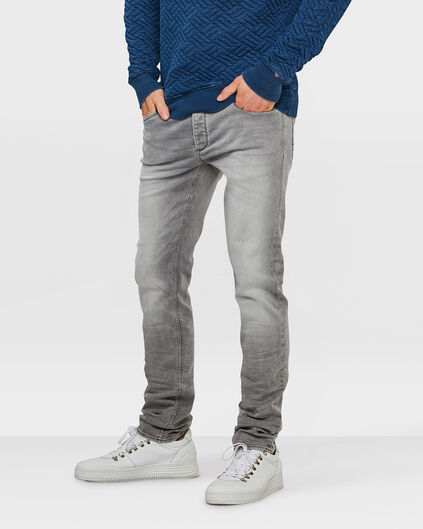 HERREN-SUPER-STRETCH-JOG-DENIM MIT TAPERED LEG Grau