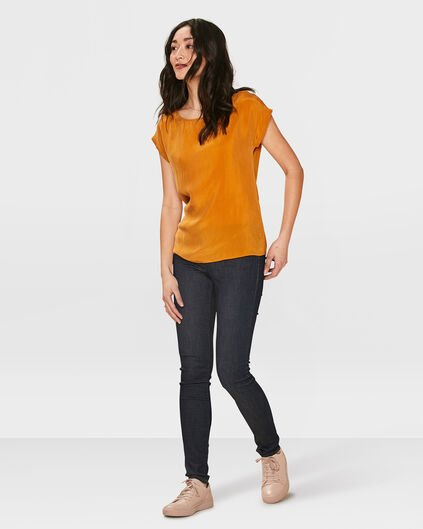 DAMEN-MID-RISE-SKINNY-HIGH-STRETCH-JEANS Dunkelblau