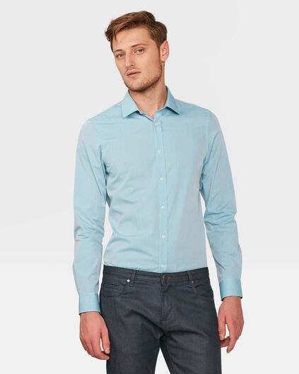 HERREN-SLIM-FIT-HEMD IN MELIERTER OPTIK Blau