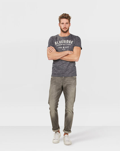 HERREN-SLIM-STRAIGHT-GREY-DENIM-JEANS Grau