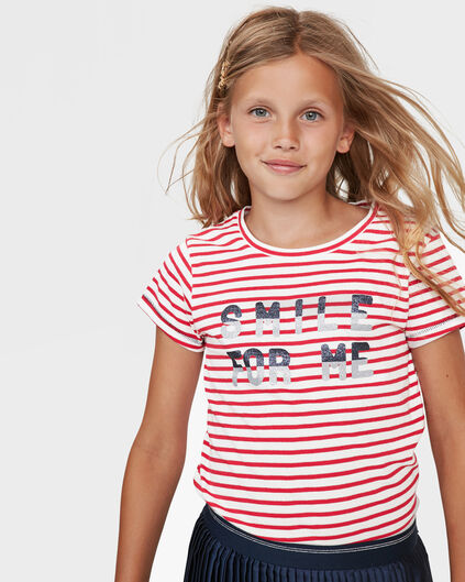 """MÄDCHEN-T-SHIRT MIT """"SMILE FOR YOU""""-PRINT Rot"""