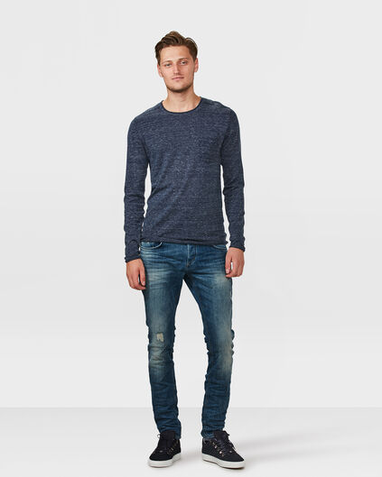 HERRENJEANS MIT DESTROYED-EFFEKTEN Blau