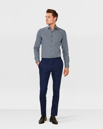 SLIM-FIT-HERRENHOSE WYATT Knallblau