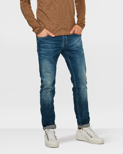 HERREN-SLIM-TAPERED-SUPER-STRETCH-JEANS Blau