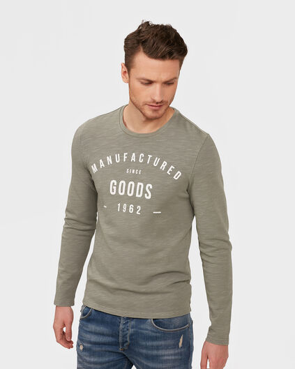 HERREN-SWEATSHIRT IN GARMENT-DYE-OPTIK Grün