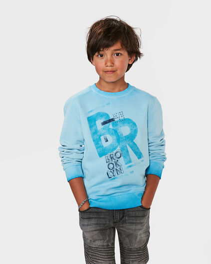 JUNGEN-SWEATSHIRT IN GARMENT-DYE-OPTIK Blau