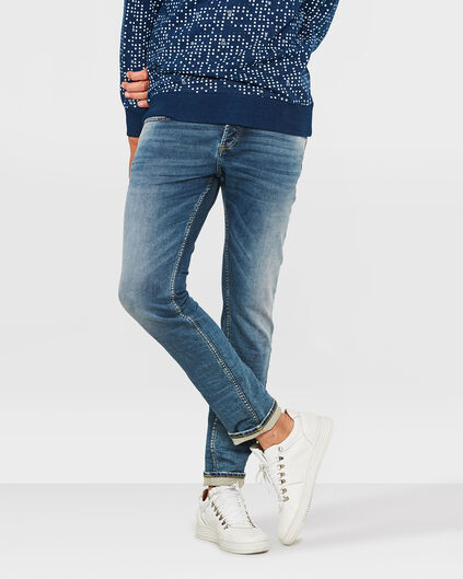 HERREN-SLIM-TAPERED-JOG-DENIM Marineblau