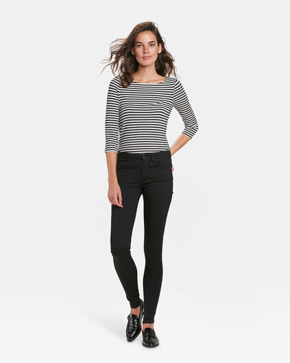 DAMEN-MID-RISE-SUPER-SKINNY-BLACK-DENIM-JEANS Schwarz