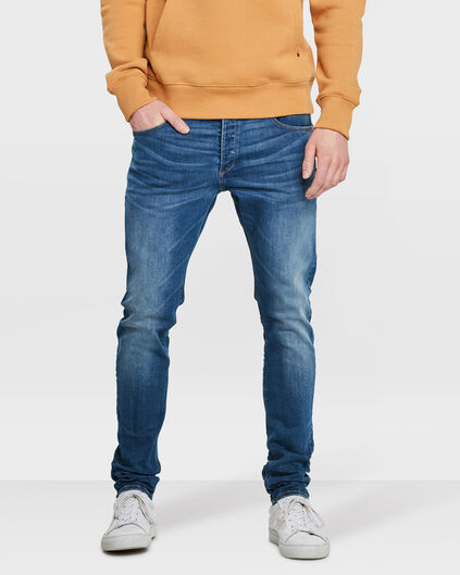 HERREN-SKINNY-TAPERED-SUPER-STRETCH-JEANS Blau