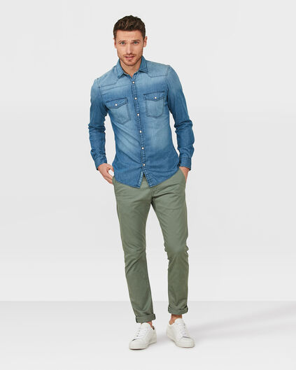 HERREN-SLIM-FIT-CHINO Grün