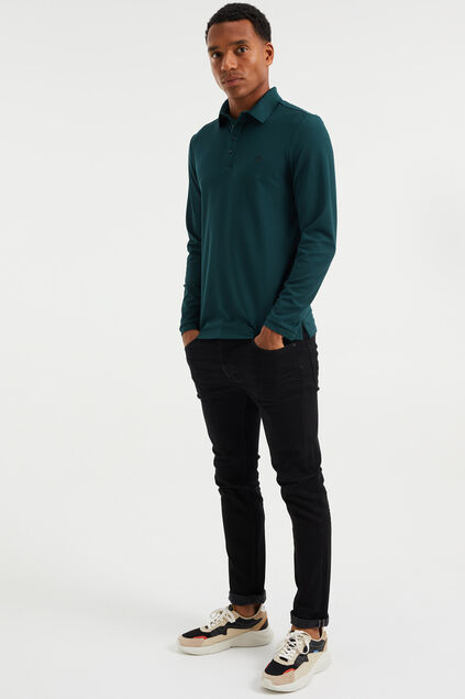 Polo Hybrids slim fit homme Vert mousse