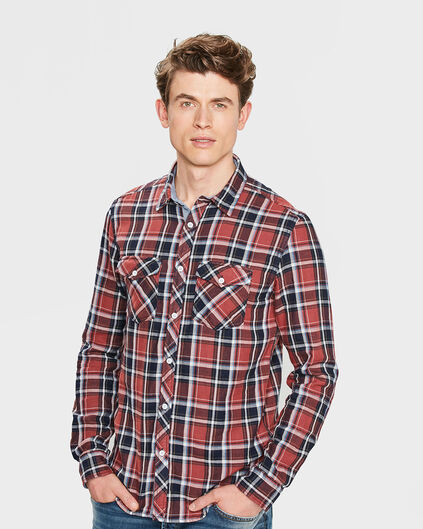 CHEMISE RELAXED FIT CHECKED HOMME Vieux rose