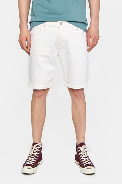 Short denim homme Blanc cassé