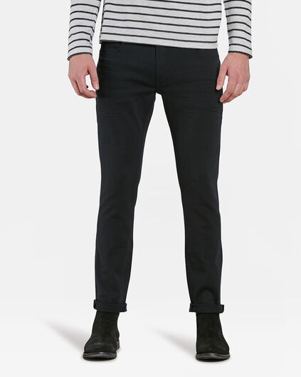 HERREN-SUPERSTRETCH-JEANS MIT TAPERED LEG Schwarz