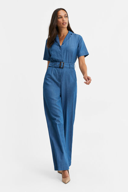 Damen-Jumpsuit in Jeans-Optik Blau