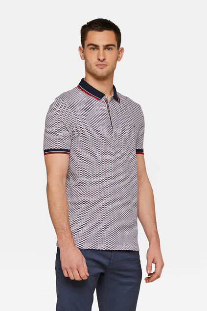 Polo print homme Rouge