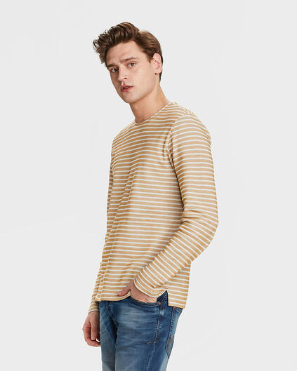 SWEAT-SHIRT STRIPE HOMME Or