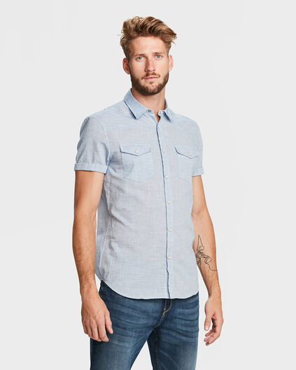 CHEMISE RELAXED FIT HOMME Bleu eclair