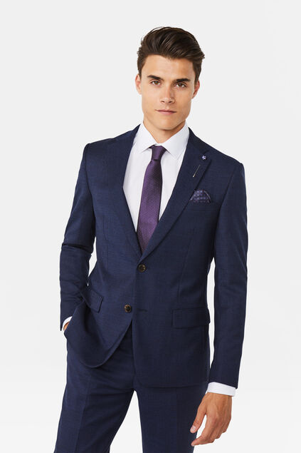 Blazer regular fit Merrill homme Bleu marine