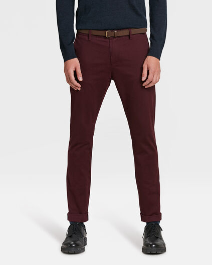 SLIM FIT PANTALON HOMME Bordeaux