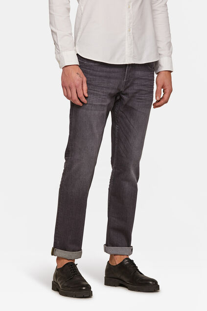 Jeans regular straight jog denim homme Gris