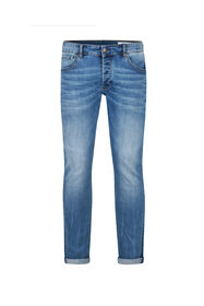 Jeans slim tapered stretch homme_Jeans slim tapered stretch homme, Bleu eclair
