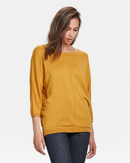 PULL OVERSIZED FEMME Jaune moutarde