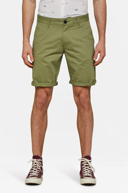 Bermuda regular fit chino homme Vert olive