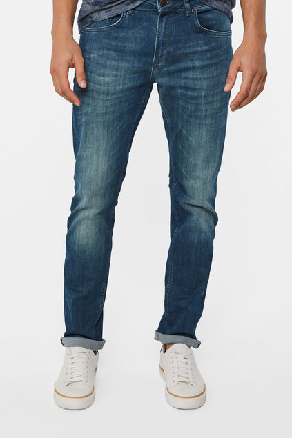 Jeans regular fit super stretch homme Bleu gris