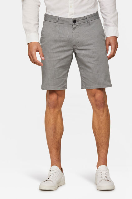 Short chino regular fit à motif homme Gris