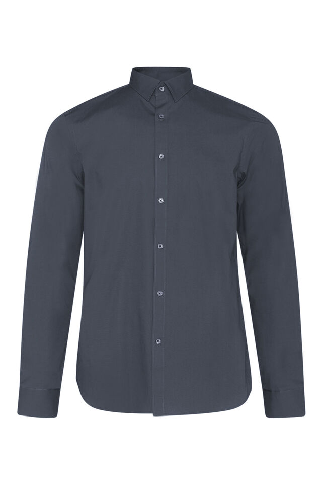 CHEMISE SLIM FIT STRETCH HOMME Anthracite