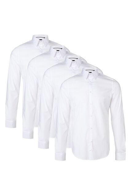 Herren-Slim-Fit-Hemd mit Stretchanteil 4er-pack