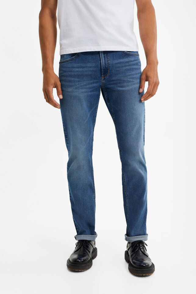 Jeans relaxed fit super stretch homme Bleu