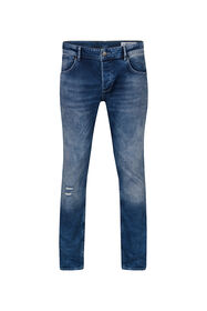Jeans slim tapered comfort stretch homme_Jeans slim tapered comfort stretch homme, Bleu