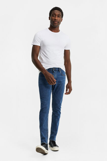 Herren-Slim-Fit-Jeans mit Comfort Stretch Blau
