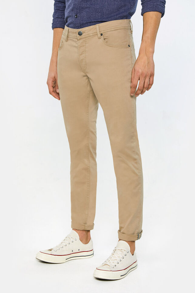 Pantalon slim tapered homme Beige