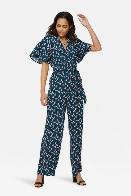 Damen-Jumpsuit mit Allover-Print Benzin