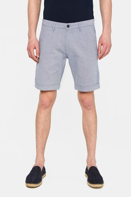 Herren-Slim-Fit-Shorts Dunkelblau