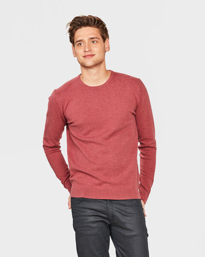 PULL STRUCTURE HOMME Rouge eclair
