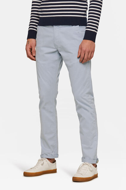 CHINO SLIM TAPERED HOMME Bleu eclair