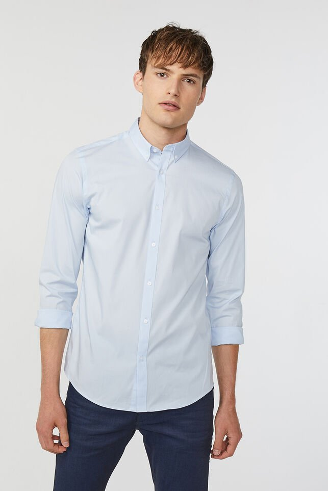 Chemise slim fit stretch homme Bleu eclair