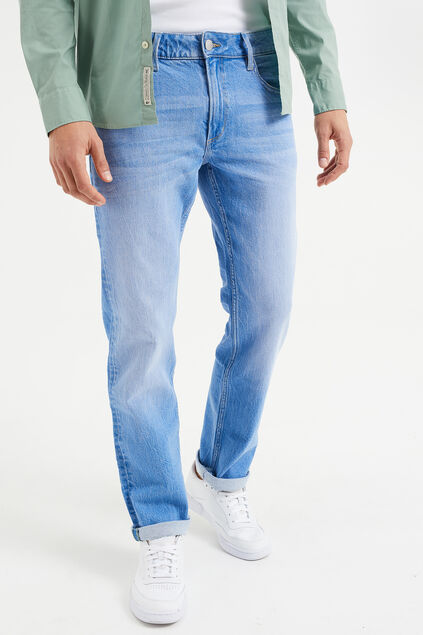 Herren-Regular-Fit-Jeans mit Comfort-Stretch Blau