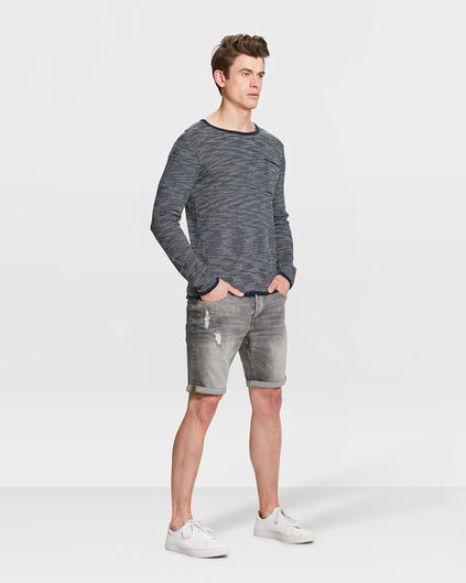 BERMUDA REGULAR FIT DENIM HOMME Gris