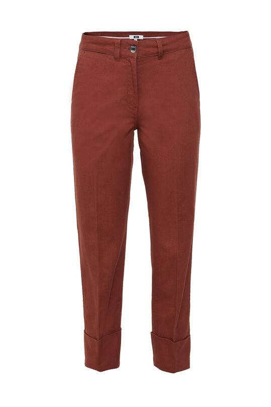 Damenhose mit hoher Taille Weinrot