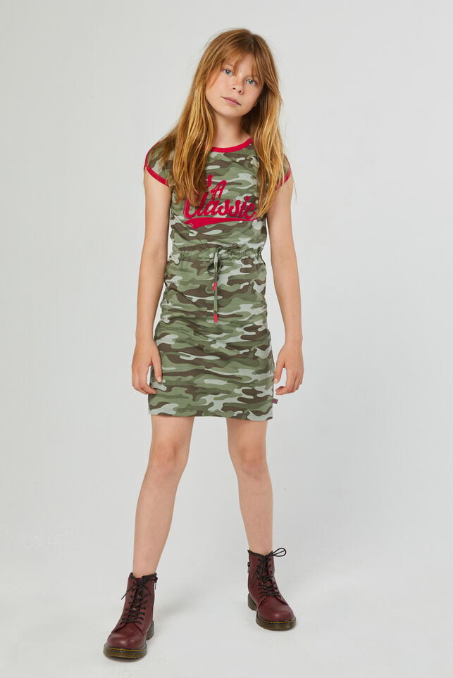 Robe à motif camouflage fille Vert armee